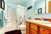 Light blue bathroom — Stock Photo