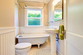 Bright white bathroom — Stock Photo