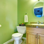 Refreshing green bathroom — Stock Photo #40715727