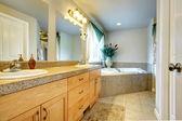 Beautiful bathroom with whirpool — Stock Photo
