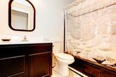 Dark brown bathroom — Stock Photo