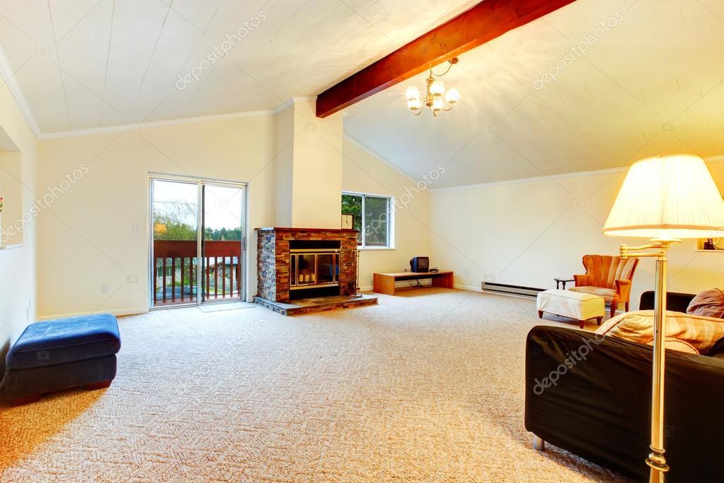 Projeto de sala de estar l em cima fotografias de stock for Living room upstairs design