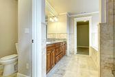 Bright bathroom with toilet — Stock Photo