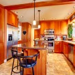 Stock Photo: Bright beautiful kitchen room design