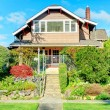 Stock Photo: Big house with beautiful curb appeal