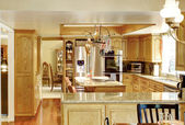 Bright elegant kitchen room — Stock Photo