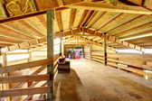 Large farm horse stable barn. — Stock Photo