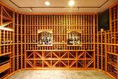 Home wine cellar design idea — Stok fotoğraf