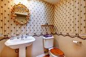 Bathroom decor idea — Stock Photo
