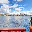 View of the bay and city from dock — Stock Photo #41055997