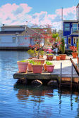 View of the boat house dock — Stock Photo