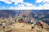 Sightseeing område i waimea canyon, hawaiiöarna, — Stockfoto