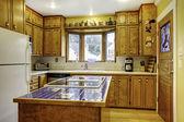 Kitchen room design idea — Stock Photo