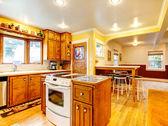 Idea di design cucina camera — Foto Stock