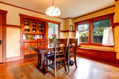 Rustic dining room — Stock Photo