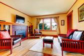 Living room design idea — Stock Photo