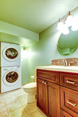 Bathroom with laundry area — Stock Photo