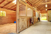Beautiful clean stable barn — Stock Photo