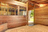 Horse stable barn stall — Stock Photo