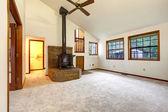 Farm house empty living room — Stock Photo