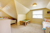Kids room with two beds — Стоковое фото