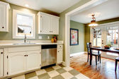 Great color solution for kitchen room design — Stock Photo