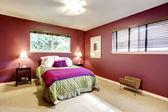 Contrast color beautiful bedroom — Photo