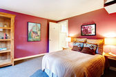 Contrast color beautiful bedroom — Stock Photo