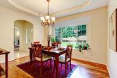 White elegant dining room. — Stock Photo