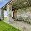 View of stone spacious open porch — Stock Photo #42349629