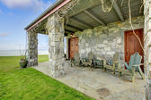 View of stone spacious open porch — Stock Photo