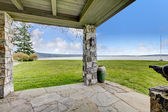 View of stone spacious open porch — Photo