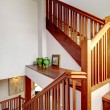 View of staircase and shelf — Stock Photo