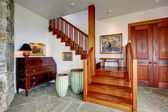 Entrance foyer with staircase — Stock Photo
