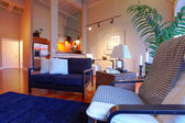 Reconstructed tropical living room — Stock Photo