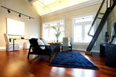Reconstructed modern spacious living room — Stock Photo