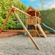 Backyard playground for kids — Stock Photo