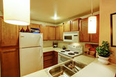 Small simple kitchen room — Stock Photo