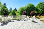 Backyard patio area — Fotografia Stock