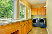Laundry room interior — Stock Photo