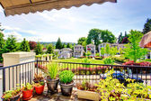 View of residential complex from balcony — Stock Photo