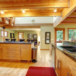 Log cabin style. Kitchen interior — Stock Photo #43850977