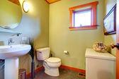 Cozy light olive bathroom — Stock Photo