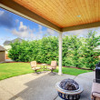 Backyard patio area — Stock Photo #43992085
