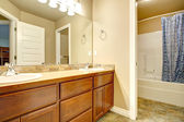 Bathroom washbasin cabinets — Stock Photo