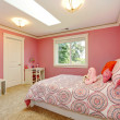 Beautiful pink bedroom for girls — Stock Photo