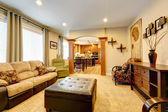 Luxury home interior with column wall — Foto de Stock