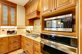 Luxury kitchen cabinets — Stock Photo