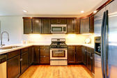 Chocolate color kitchen room  — Stockfoto