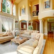 Luxury house interior. Living room — Stock Photo